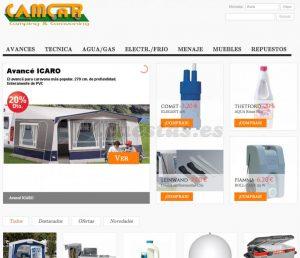 Catálogo de accesorios acampada para comprar On-Line