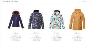 Lista de chaquetas ski outlet para comprar
